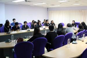 ประชุมเพื่อรับทราบแผนการตรวจประเมิน ณ ห้องประชุมชั้น 1 อาคารหอสมุดแห่ง มธ. ท่าพระจันทร์