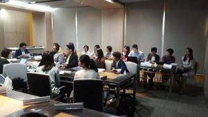 บรรยากาศการประชุมเปิดการตรวจรับรองระบบบริหารคุณภาพ ISO 9001:2015 ณ ห้องประชุม True Lab ชั้น 1 อาคารหอสมุดป๋วย อึ๊งภากรณ์ มธ.ศูนย์รังสิต